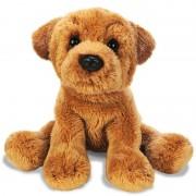 Merkloos Honden knuffels sharpei bruin 13 cm