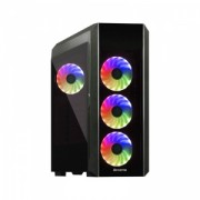 "CARCASA CHIEFTEC Middle-Tower ATX, Scorpion 3, tempered glass, 4* 120mm RGB fan & HUB & telecomanda (incluse), header RGB ADD, front audio & 2x USB 3.0 & 1x USB 2.0, black ""GL-03B-OP"""