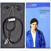 Healthgenie Doctors Dual Stainless Steel stethoscope HG-301B (Black)