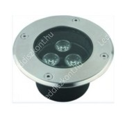 Led lépésálló lámpa AC12V, 3W, 240 Lumen, 30°, süllyesztett, IP67 vízálló, RGB Life Light Led