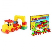 Virgo Toys Play Blocks Train Set and Highway Vehicle Set (Combo)