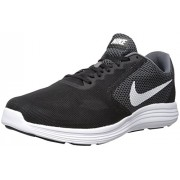 Nike Men's Revolution 3 Dark Grey, White and Black Running Shoes - 7 UK/India (41 EU)(8 US)