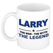 Bellatio Decorations Larry The man, The myth the legend collega kado mokken/bekers 300 ml