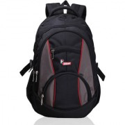 F Gear Black Polyester Casual Backpacks Backpack