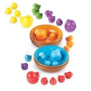 Set pentru sortarea culorilor - Pasarele colorate in cuiburi - Learning Resources