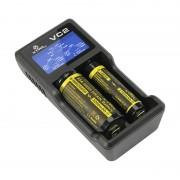 Универсално зарядно устройство и тестер с LCD за 3.6V и 3.7V Li-Ion акумулаторни батерии XTAR VC2