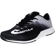 Max Air Sports Men's Running Sports Shoes Black Grey M44