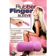 Rubber Finger Sleeve - Purple