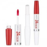 Течно Червило + Балсам за Устни Maybelline Super Stay 24h Bold Matte 2 Steps Lipstick Balm, 515 Blazing Red