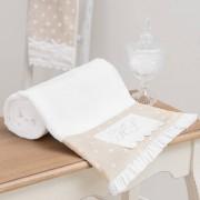 Maisons du Monde SANS SOUCI Beige Cotton Bath Sheet 100 x 150cm