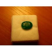 3,25 Ct Természetes Ovális smaragd - tanúsítvánnyal