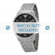 Giorgio Armani bracelet de montre AR1614 Métal Argent 20mm