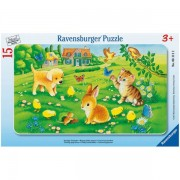 Puzzle animale dragalase, 15 piese