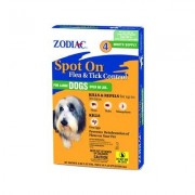 Zodiac Spot On Flea & Tick Control for Large Dogs Over 60 lbs, 4 treatments