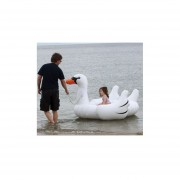 Summer Swimming Pool White Swans Shape Floating Circle Inflatable Floating Toy