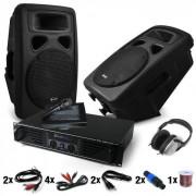 Electronic-Star Bass Blast Force Set DJ PA Amplificador, Altavoces 1600W (DJ014)