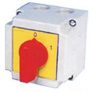 Tűzvédelmi főkapcsoló KI-BE sárga előlappal 3x25A tokozott (6002)