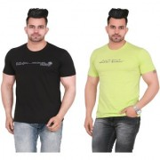 Yorker Solid Regular Fit Tshirt for Mens Half Sleeve Combo Of 2