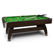 oneConcept Leeds Billiard Table 8' (122 x 79 x 244 cm) Queues Ball Set Green