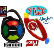 SIMON & Bop It! (RED) Electronic Hand-Held Carabiner Editions Gift Set Bundle - 2 Pack