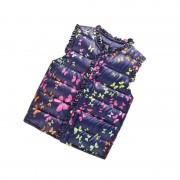 1-6 Years Winter Girls Vests Children's Down Cotton Warm Vest Baby Girls Butterfly Print Waistcoat Kids Vest Outerwear