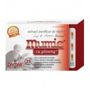 Mumie cu ginseng (extract purificat de rasina), 60 capsule