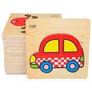 Vertableu Wooden Jigsaw Puzzle - Set Of 8 Puzzles Transport