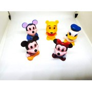TrendyTap Disney Mickey Mouse and Friends Mini Figurine to Decorate Your Room or use as Pencil and Pen Cap, Mickey Toy for Kids (Set of 8 Assorted Design, 5 cms Height)