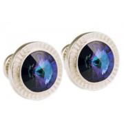 Mousie Bean Crystal Cufflinks Rd 70's Double Stone 001 Heliothrop