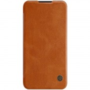 NILLKIN Qin Series Card Holder Leather Mobile Shell for Xiaomi Mi Play - Brown