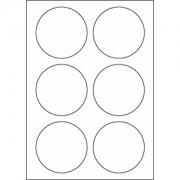 A4 etiketten 85 mm rond wit (100 vel)