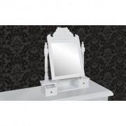 vidaXL Kaptafel met draaiende rechthoekige spiegel MDF