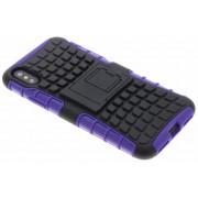 Paarse Rugged Hybrid Case voor de iPhone Xs / X
