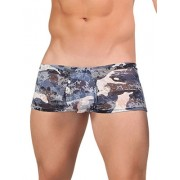 Male Power Army Burnout Mini Shorts Boxer Brief Underwear Blue 145-161