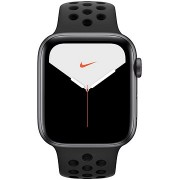 Apple Watch Nike Series 5, 44 mm, Űrszürke alumínium, antracit/fekete Nike sportszíjjal