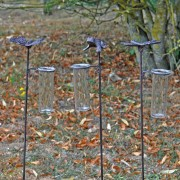Set Pluviomètre Grenouille, Papillon, Libellule
