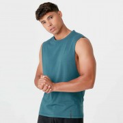 Myprotein Luxe Classic Drop Tank - L - Petrol Blue