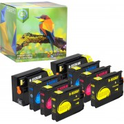 Ink Hero - 8 Pack - Inktcartridge / Alternatief voor de HP Officejet 932 933 CN053AE CN057AE CN054AE CN055AE CN056AE 6100 6600 6700 7110 7510 7610 7612