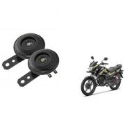 KunjZone Trumpet sound 12 Voltage Horn Set oF 2 For Honda CB Shine