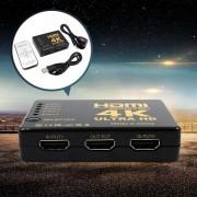 HDMI SWITCH elosztó 4K * 2K 1080P HDMI jelosztó 5 bemenet 1 kimenet + távirányító