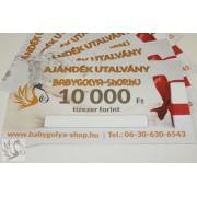 10.000 Ft Értékű BabyGolya-Shop.hu Vásárlási/Ajándék utalvány