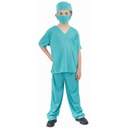 Vegaoo Kirurgdräkt för barn till maskeraden 110 - 120 cm S (4 - 6 år)