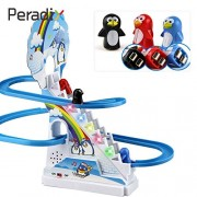 HATCHMATIC with Musical Toys Climbing Stairs Toys Puzzle Penguin Slide Electric Railcar with Music Intellectual Development Gift Funny: Multicolor