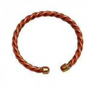 Men Style ArtificialRope Religious Plain 6 mm Thickness Brown Copper Round Kada For Men And Women