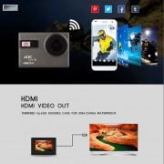 Cámara de Acción Ultra HD nueva F68 F68R gopro hero 4 Stlye 4 K 24FPS Novatek 96660 remoto Wifi resistente al agua 30 m extremo la Cámara de los deportes(#F68R Azul)(#standard)