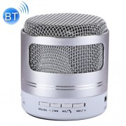 Portable Mini Bluetooth Speaker Built-in Mic for iPhone Samsung HTC Sony and other Smartphones (Silver)