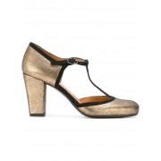 Chie Mihara туфли-лодочки с Т-образным ремешком с металлическим блеском Chie Mihara