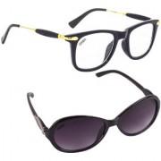 Aligatorr Combo Of 2 Cat Eye Wayfarer Unisex Sunglasses ldy greybbarcCRLK
