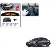Auto Addict Car Silver Reverse Parking Sensor With LED Display For Honda Civic