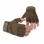 Ctsmart Outdoor Tractical Half-Finger Bike Riding Sun-resistant Gloves - Green (M)